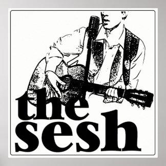 """o sesh"" poster branco (24"" x24"")"