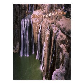 O Shoshone impressionante cai em Idaho, cartão