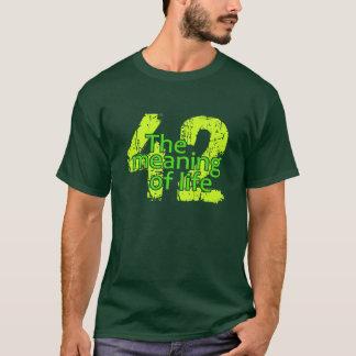 O significado 42 da camisa da vida - escolha o