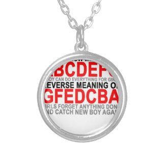 O significado do abcdefg T-Shirts.png Colar Com Pendente Redondo