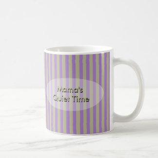 O Silêncio Tempo Listra do Mama com seu texto Caneca De Café