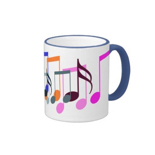 o símbolo de música nota a caneca