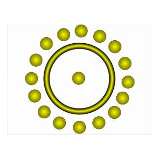 O símbolo do alquimista para o ouro cartão postal