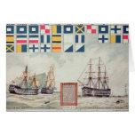 O sinal de Nelson em Trafalgar Cartões