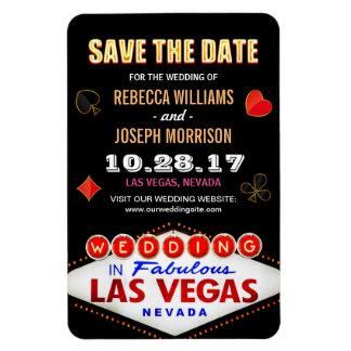 O sinal de néon da noite de Las Vegas - salvar o Foto Com Ímã Retangular