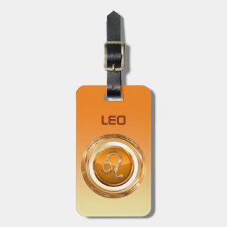 O sinal do horóscopo do leão etiqueta de bagagem