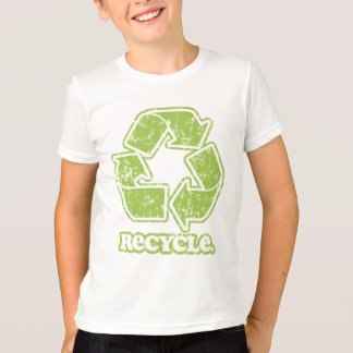 O sinal do reciclar do vintage caçoa o t-shirt camiseta