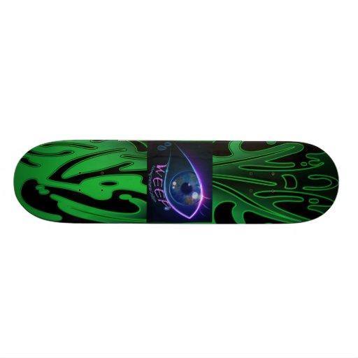 O Skate WEEP o logotipo weeping verde de néon do o