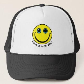 O smiley face tem um dia agradável boné