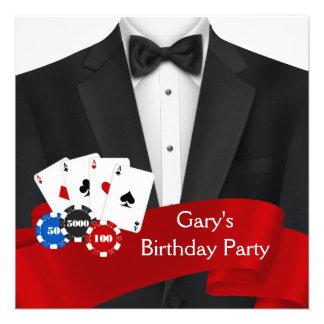 O smoking preto equipa a festa de aniversário do p convite