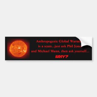 o sol, aquecimento global antropogénico, é scam .. adesivo para carro