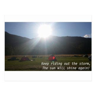 O sol brilhará o cartão