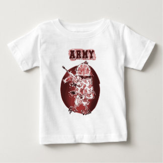 o soldado da águia do exército posterize o camiseta para bebê