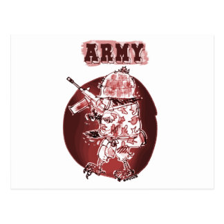 o soldado da águia do exército posterize o cartão postal