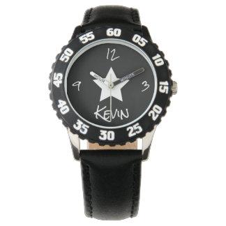 O solteiro centrou a estrela branca o relógio