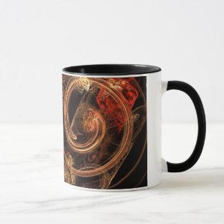 O som da caneca de café do abstrato da música