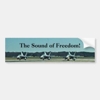 O som da liberdade! adesivo para carro