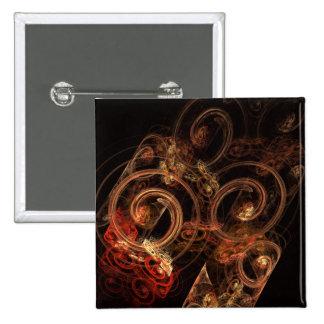 O som do botão da arte abstracta da música (quadra bóton quadrado 5.08cm