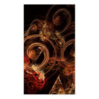 O som do cartão de visita da arte abstracta da