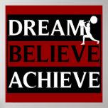 O sonho acredita consegue o poster do halterofilis