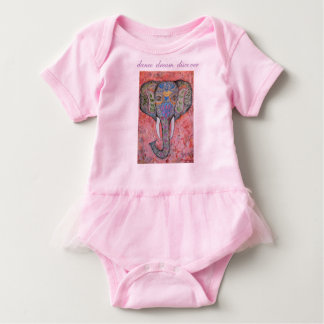 O sonho da dança descobre o tutu do bebê da arte body para bebê