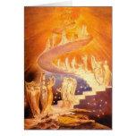 O sonho de Jacob por William Blake Cartão Comemorativo
