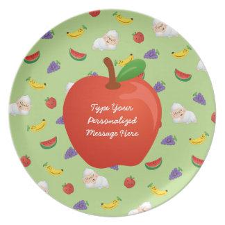 O sonho de Momo da placa das frutas Louça De Jantar