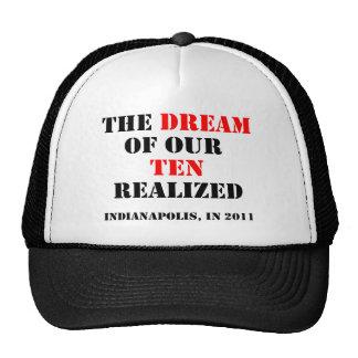 O sonho dos nossos dez realizados boné