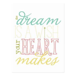 o sonho é um cartão do desejo - verde amarelo do