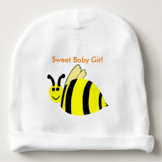 O sorriso amarelo Bumble o bebé do doce da abelha Gorro Para Bebê