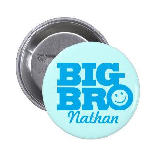 O sorriso Bro grande nomeou o crachá do botão no Bóton Redondo 5.08cm