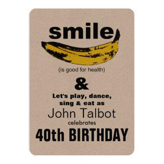 O sorriso é bom - convite de festas do aniversário