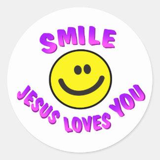 O sorriso, Jesus ama-o Adesivo