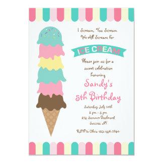O sorvete escava o convite