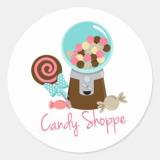 O sorvete napolitana da loja dos doces trata doces adesivo