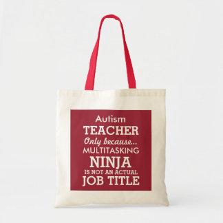 O Special engraçado do autismo precisa o professor Sacola Tote Budget