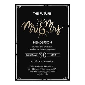 O Sr. & a Sra. futuros Noivado Convite