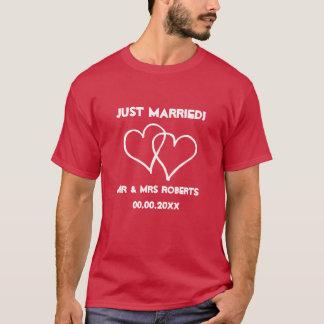 O Sr. do recem casados & a Sra. camisa de t