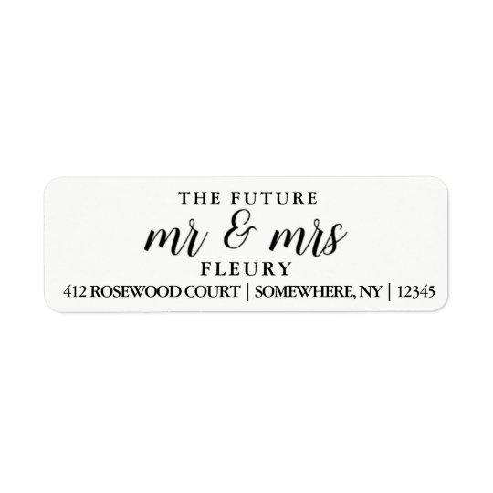 O Sr. e a Sra. futuros etiquetas de endereço do Etiqueta Endereço De Retorno