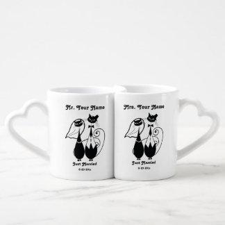 O Sr. e a Sra. recem casados personalizaram o Conjunto De Caneca De Café