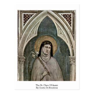 O St. Clare de Assisi por Giotto Di Bondone Cartões Postais