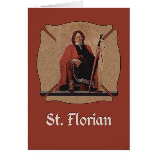 O St. Florian protege-nos, santo católico Cartão Comemorativo