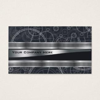 o steampunk elegante projeta o cartão de visita