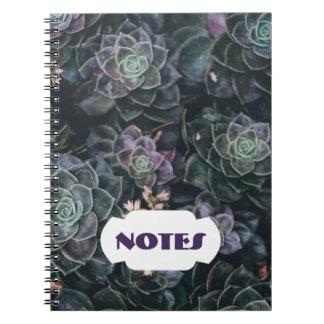 O Succulent nota o caderno espiral de |