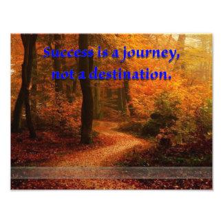 O sucesso é uma viagem impressão de foto