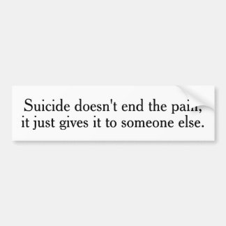 O suicídio não termina os autocolantes no vidro adesivo para carro