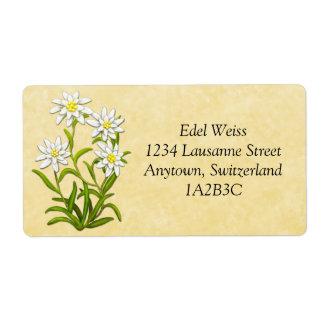 O suíço Edelweiss floresce a etiqueta customizável Etiqueta De Frete