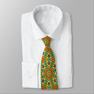 O Sunburst telhou gravatas coloridas