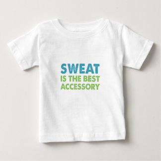 O suor é o melhor acessório camiseta para bebê
