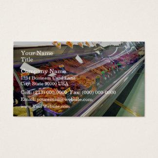 O supermercado fino da carne fresca opor no cartão de visitas